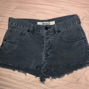 Brandy Melville cutoff denim light grey shorts